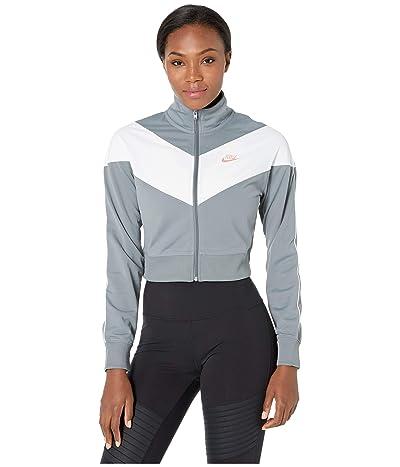 Nike NSW Heritage Track Jacket Poly Knit (Cool Grey/White/Echo Pink) Women