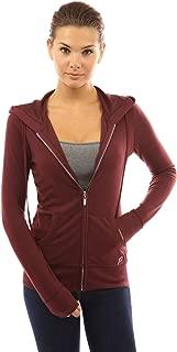 Women Hoodie Pocket Zip Up Jacket