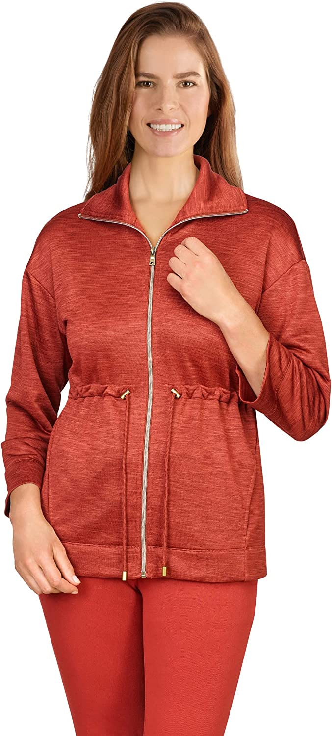 Ruby Rd. Women's Plus-size Zip-Front French Terry Jacket