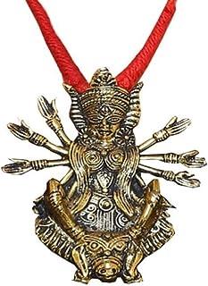 Sansar India Oxidised Maa Godess Big Pendant Necklace for Women
