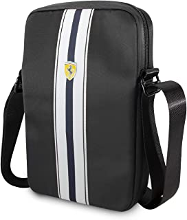 "Ferrari Pista Nylon Metal Logo On Track Tablet Bag 10"" - Black"
