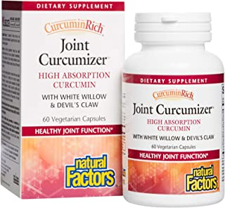 CurcuminRich Joint Curcumizer by Natural Factors, Support Healthy Joints, Heart and Natural Inflammatory Response with Whi...