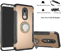 Labanema Xiaomi Redmi 5 Plus Funda, 360 Rotating Ring Grip Stand Holder Capa TPU + PC Shockproof Anti-rasguños teléfono Caso protección Cáscara Cover para Xiaomi Redmi 5 Plus - Oro