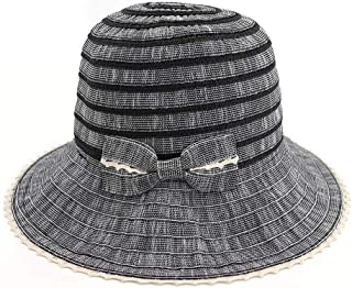 Sun Hat for men and women Unisex Warm Summer Visor Knitted Hat Casual Daily Fisherman Hat Bowknot Small Fresh Topee