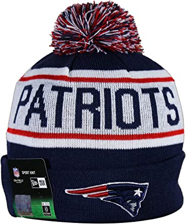 a87ef81ed2576 NE PATRIOTS Adult Winter Knit Beanie Hat With Removable Pom Pom One Size  Fits Most Multicolor