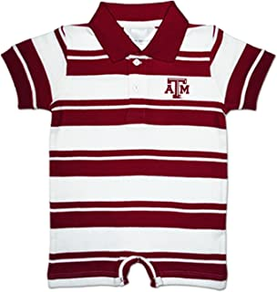 Texas A&M Aggies NCAA College Infant Baby Rugby Striped Romper
