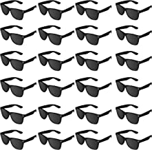 Super Z Outlet Plastic Vintage Retro Style Sunglasses Classic Shades Eyewear Party Prop Favors (24 Pairs) (Black)