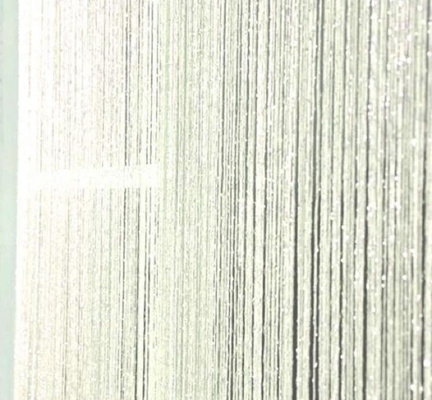 終わり市の中心部トリムキラキラ光る 紐のれん ストリングカーテン ひものれん 目隠し 白 (ホワイト) 95×200cm