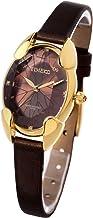 Time100 腕時計レディース 多面ひし形クリスタル 日本製ムーブメント レディースウォッチ ブラウン色 女性用腕時計W50010L.05A