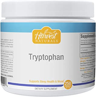 L-Tryptophan Powder - Supports Sleep Health & Mood - 250 Grams - Harvest Naturals