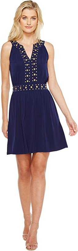 Dome Stud Band Dress