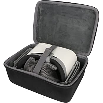 co2crea Virtual Reality Headset Case for Oculus Go VR Wireless Headset - Fits Controller and Charger (Black Case)