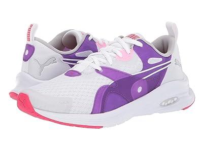 Puma Kids Hybrid Fuego (Big Kid) (PUMA White/Royal Lilac) Girls Shoes