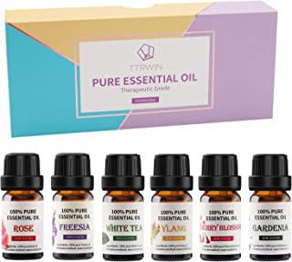 TTRWIN Essential Oil Gift Set,10ml Aromatherapy Essential Oil with Premium Plant Therapeutic Grade Fragrance Oil for Relie...
