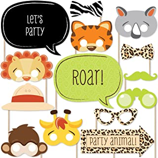 Funfari - Fun Safari Jungle - Photo Booth Props Kit - 20 Count