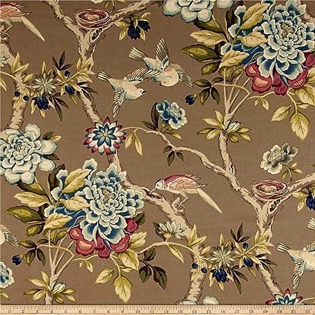 Navy  Cream Waverly Floral Key Fob
