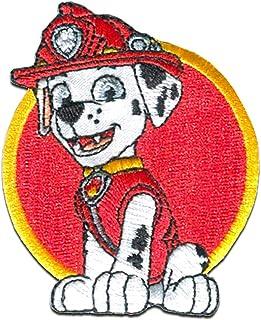 Patrulla Canina 'Marshall 2' - Parches termoadhesivos bordados aplique para ropa, tamaño: 7,5 x 6 cm