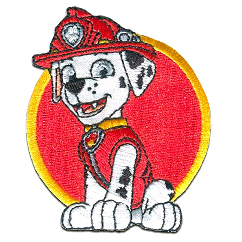 Iron on patches - PAW PATROL 'MARSHALL 2' - red - 7,5x6cm - by catch-the-patch Application Embroided patch badges
