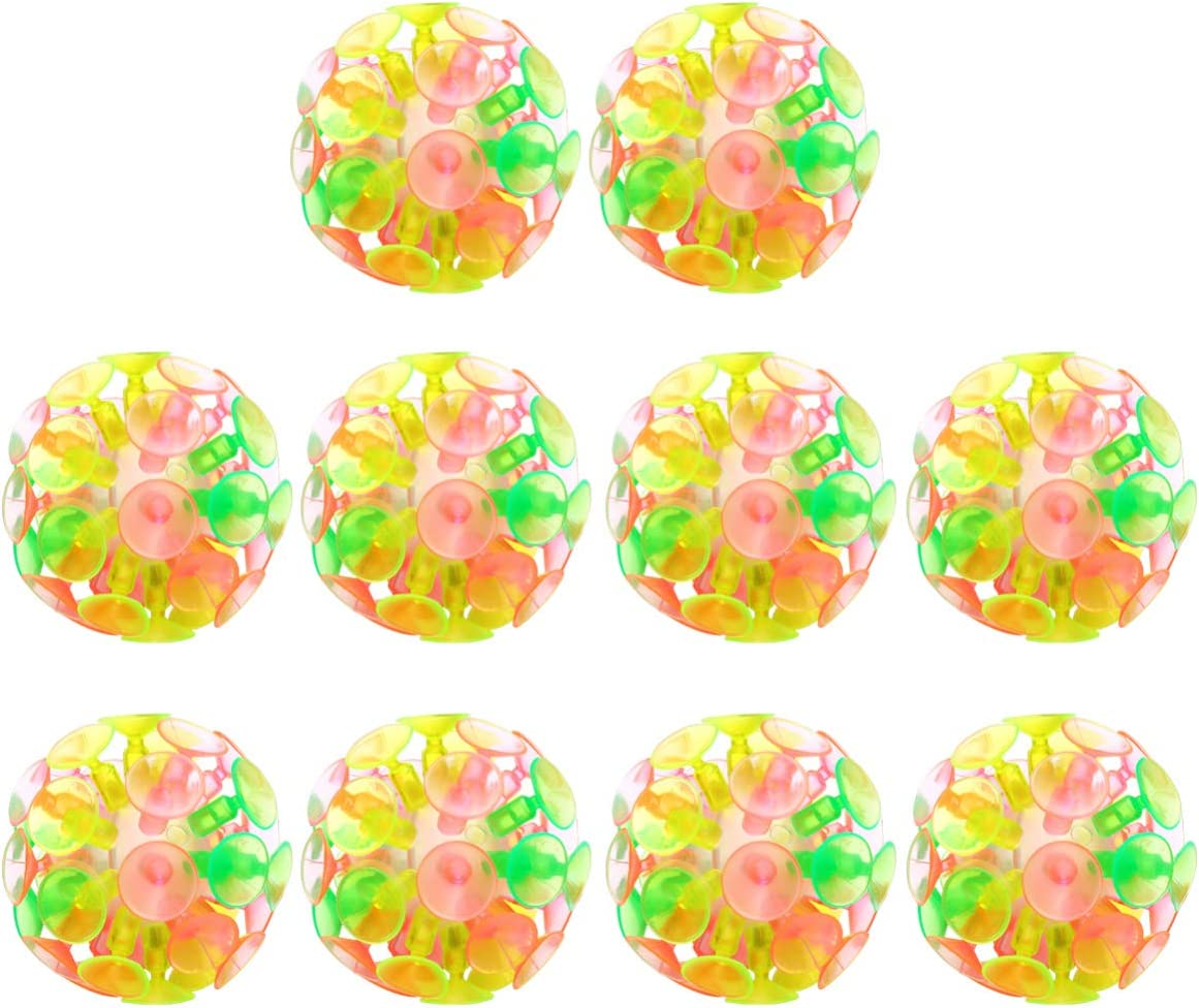LIOOBO 10 Pcs Suction Cup Interactive Glowing Japan's Soldering largest assortment Ball Multicolored