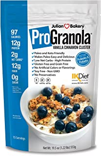 ProGranola® 12g Protein Cereal Vanilla Cinn (Paleo : Low Net Carb : Gluten Free : Grain Free) (15 Servings)