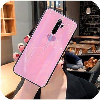 Z-M01 for Xiaomi Mi 9 SE 9T Lite A3 for Redmi K20 K30 Note 7 8 Pro Blingキラキラレーザースパンコールグラデーション強化ガラス電話カバー用ケース-Pink-for Xiaomi Mi9T Pro