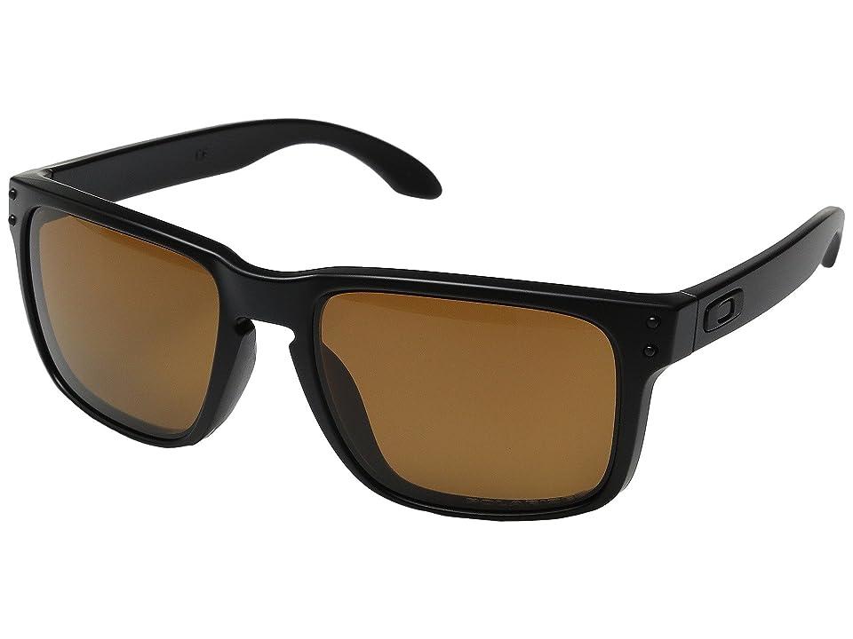 Oakley Holbrook (Matte Black/Bronze Polarized) Sport Sunglasses