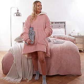 Sienna Hoodie Deken Ultra Zachte Sherpa Fleece Warm Cosy Comfy Oversized Draagbare Reus Sweatshirt Gooi voor Vrouwen Meisj...