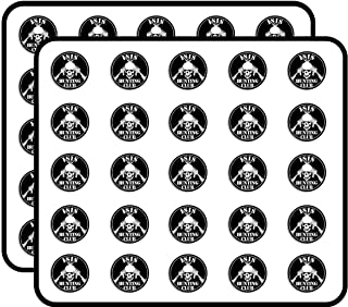 Round ISIS Hunting Club (Skull ar-15 Army Military Gun) Sticker for Scrapbooking, Calendars, Arts, Kids DIY Crafts, Album, Bullet Journals 50 Pack