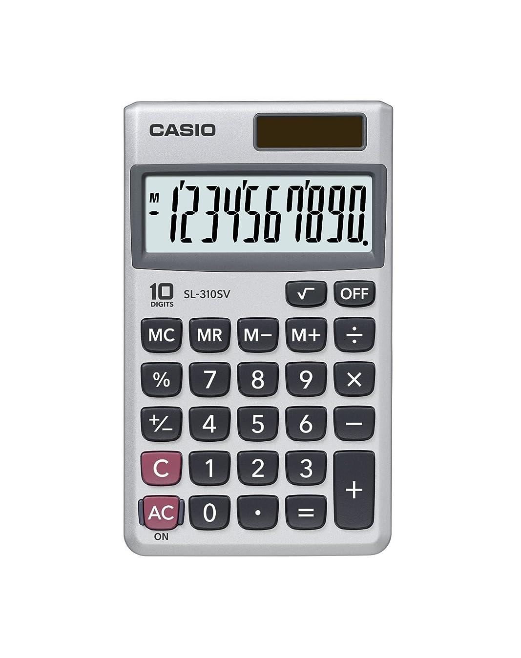 発明するに変わる注意Casio sl-310sv標準関数電卓