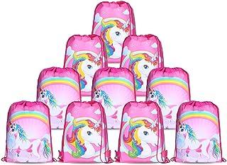 10pcs/Set Unicorn Bags for Unicorn Party Supplies Unicorn Drawstring Shoulder Backpack Bag Bulk for Girls Kids Children fo...