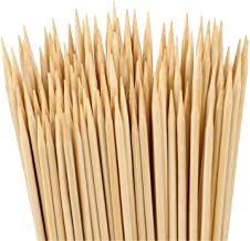 Easytle Natural Bamboo Skewers Sticks for BBQ, Appetizer, Vegetables, Cheese, Fruit, Corn and More Food, 200 Pcs (4 Inch)