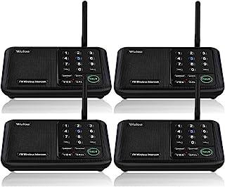 Wuloo Wireless Intercom System, 1 Mile Wide Range 10 - Channel Security FM Wireless Intercom Walkie Talkie Doorbell System...