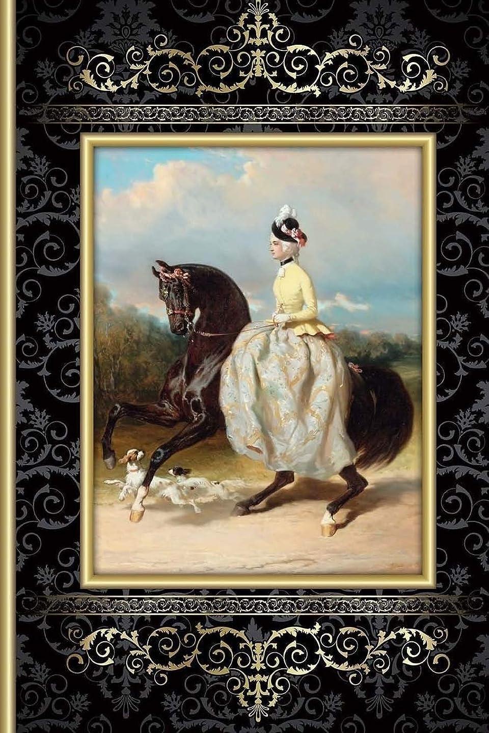 荒らす情熱的モディッシュHorse Journal: (Horse Journal) (Victorian Woman On Horse) (Journal To Write In) Lined Journal, 150 Pages, 6x9 Inches, Matte Finish