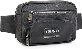 Lois - Riñonera Grande de Hombre con Cinturón. Compartimentos para Móvil y Documentación. Ideal para Viaje o Diario. Cuero...