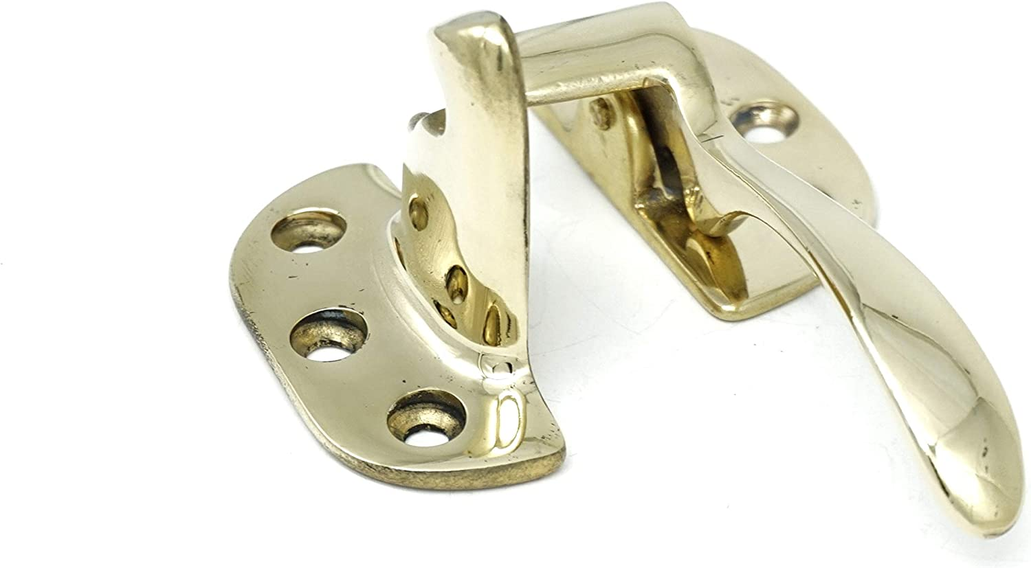 Antique Over item handling ☆ Ice Box Latch Solid Brass Bo Right 3 Ultra-Cheap Deals 8