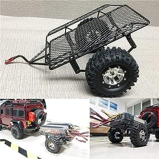 Yiwa DIY Simulate RC Crawler Metal Drag Hitch Mount Tow Trailer for 1/10 RC CAR D90 SCX10 CC01 TRX-4
