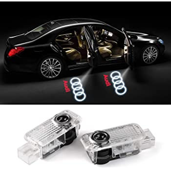 Porsche GemPro 2-Pack Xenon White LED Courtesy Step Lights Assembly for Audi A3 S3 A4 S4 RS4 A5 S5 A6 S6 RS6 A8 R8 Q5 Q7 TT Volkswagen