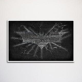 """Batman Dark Knight Rises word art print 11x17"""" unframed, movie quote art, quote art print, movie decor"""