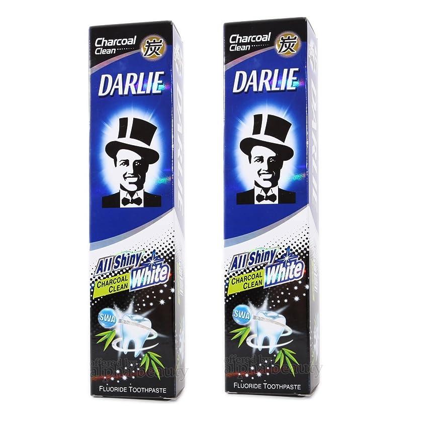 手を差し伸べる奇妙な貫通する2 packs of Darlie Charcoal All Shiny Whitening Toothpaste by Darlie