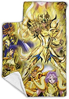 """Other1 Child's Sleeping Bag with Blanket and Pillow Inspired by Saint Anime Seiya Golden Comfortable Flannel Sleeping Cushion Child Nap Mat 43""""""""X21"""
