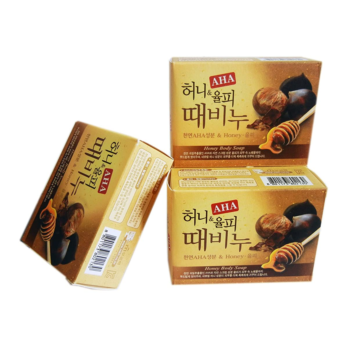 カブ代数的相関するMugunghwa Honey&Castanea Crenata Body Soap ムグンファ ハニー栗皮 垢石鹸 [並行輸入品]