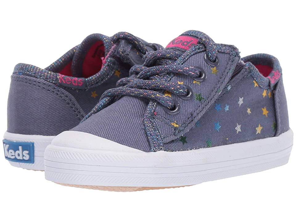 Keds Kids Kickstart Seasonal Toe Cap (Toddler/Little Kid) (Star Perf) Girls Shoes