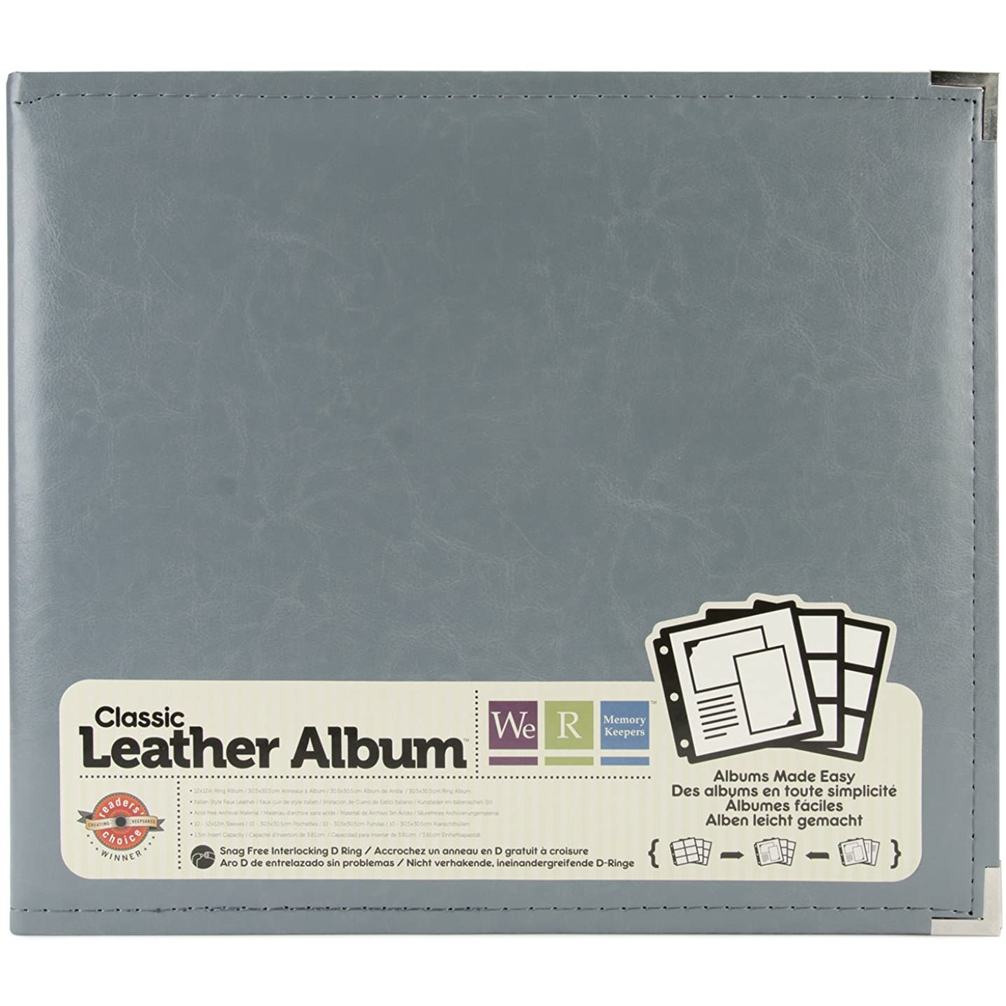American Crafts 660905 We R Memory Keepers Classic D-Ring Scrapbooking Album, 12