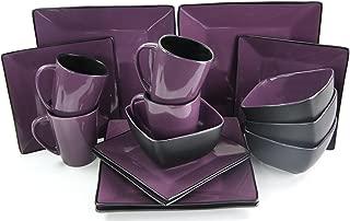 purple square dinner plates