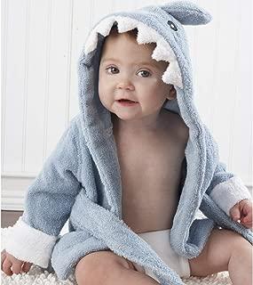 Baby Shark Bathrobe Shark Gift Bundle Blue M for 2-3 Years Old Baby