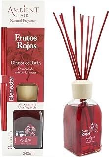 comprar comparacion Ambientair Classic. Difusor de varillas perfumadas. Ambientador Mikado aroma Frutos Rojos. Difusor 240 ml con palitos de r...