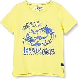 Joules Boys Ben Screenprint T shirt in ORANGE PUFFERFISH