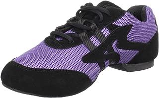 Sansha Salsette 1 Jazz Sneaker,Purple/Black,5 Sansha (4 M US Women's)
