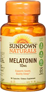 Sundown Naturals, Maximum Strength Melatonin, 10 mg, 90 Capsules