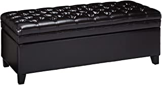 Christopher Knight Home Hastings Tufted Leather Storage Ottoman, Espresso